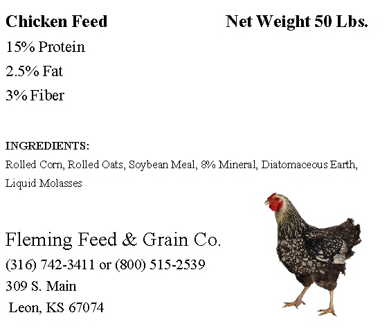 chicken feed - Avery 5664 Clear